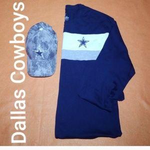 2piece NFL Dallas Cowboys Cap and Tee